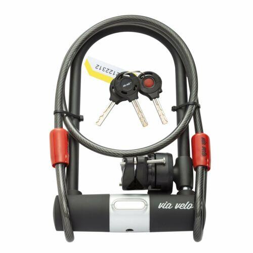 Cable De Seguridad Con Candado De Combinación Para Bicicletas Sistema Antirrobos