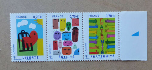 2016 FRANCE LIBERTY STAMP ISSUE SET OF 3 MINT STAMPS