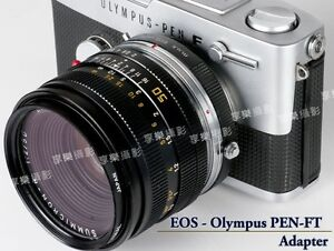 Details about Canon EOS Lens- Olympus PEN F FT FV Camera body adapter