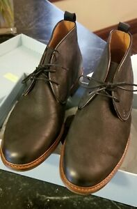 d3a2bf5661d Details about Men's Chukka Ankle Boots, Size 10 Black Leather, from Shoe  the Bear