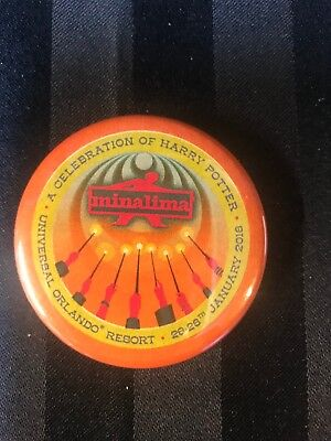 NEW 2018 A Celebration of Harry Potter Exclusive MinaLima Pin Button