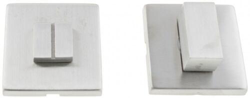 Rosette Rechteckig WC Metal Bud INOX Edelstahl Eckig Schutzrosette