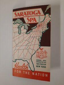 SARATOGA SPRINGS NY spa Local History VINTAGE brochure VACATION 1940s