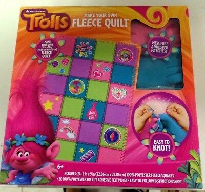 FLEECE QUILT-MAKE YOUR OWN-TROLLS-MESS FREE