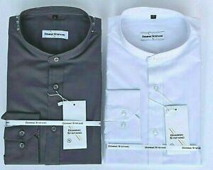 MENS GRANDAD COLLARLESS LONG SL FORMAL CASUAL DRESS PARTY SHIRT FROM £9.99 501