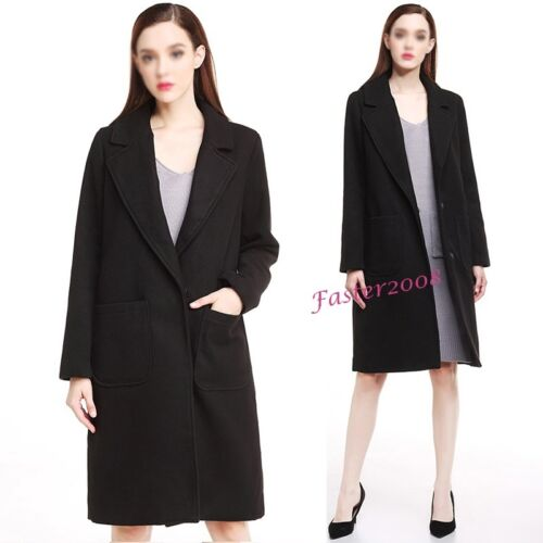 Jackets kvinders Plus Warm Overcoats Size Long Ny Coats uldblandingsknap vinter PvqwRx
