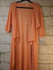 Nuovo-con-etichette-lularoe-Shirley-piccoli-Kimono-solido-Peach-BELLISSIMO-semplicemente-comodo