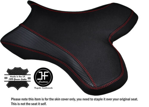 GRIP CARBON RED STITCH CUSTOM FITS YAMAHA 1000 YZF R1 04-06 FRONT SEAT COVER