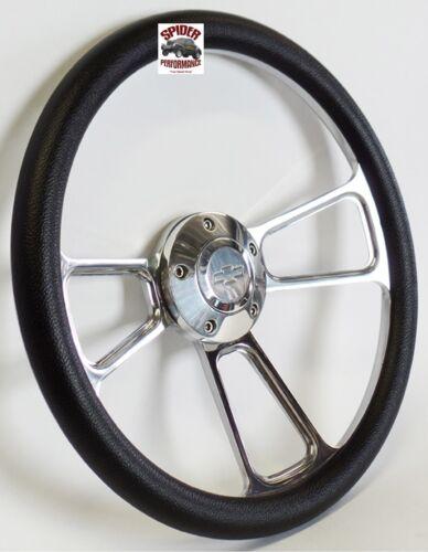 "1958-1963 Impala Biscayne Bel Air steering wheel BOWTIE 14/"" POLISHED BILLET"