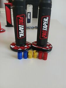 Pro-Taper-Grips-Trials-Motocross-With-Free-Alloy-Dust-Caps