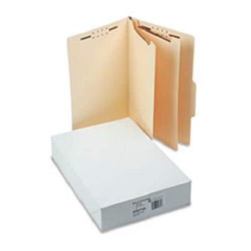 SJ Paper Economy Classification Folders, Legal Size, 6 fasteners, Manila