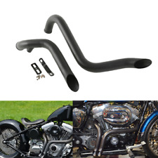 "Black 1.75"" Drag Pipes Exhaust Fit For Harley Davidson Sportster XL883 1986-2013"