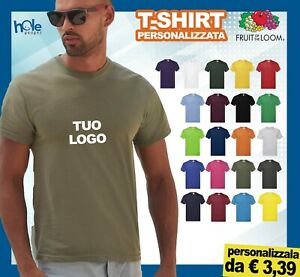 T-shirt Maglietta Magliette Personalizzata Personalizzate Fruit of the Loom