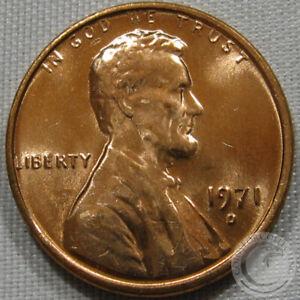 1971-D UNC  LINCOLN MEMORIAL CENT #5