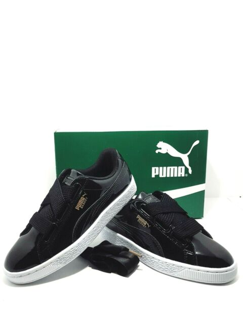 Scarpa Donna Puma Basket Heart Patent Wn's 363073 nero bordò