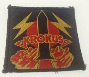 Krokus rocket vintage 1980s SEW ON PATCH - POSTFREE to UK