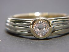 Feuriger 0,35 Carat BRILLANT Solitär Ring GOLD 585, als Verlobungsring geeignet