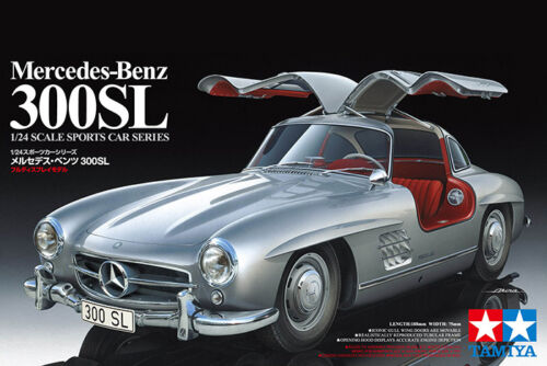 Tamiya 24338 124 Scale Model Car Kit MercedesBenz 300SL W198 Gullwing Coupe