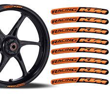 8 KTM RACING FELGENRANDAUFKLEBER AUFKLEBER AUTO MOTO MOTORRAD RIM STICKERS R48