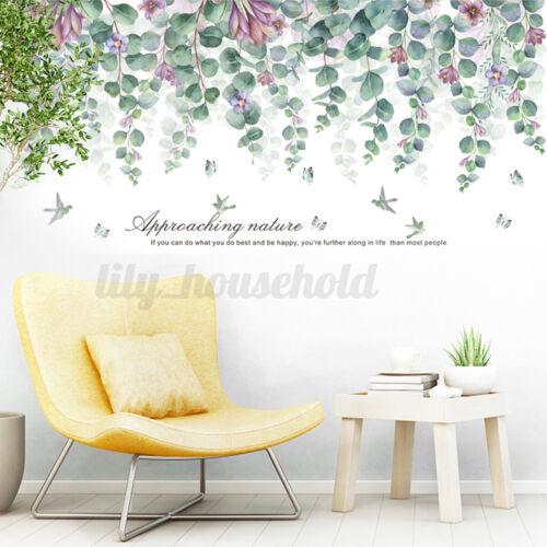 Grün Lila Blätter PVC Wandtattoo Wandsticker Wandaufkleber Kinderzimmer Haus