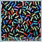 BonEful FABRIC FQ Cotton Quilt Baby Kid Alphabet Letter Flower B&W Sm Calico Dot