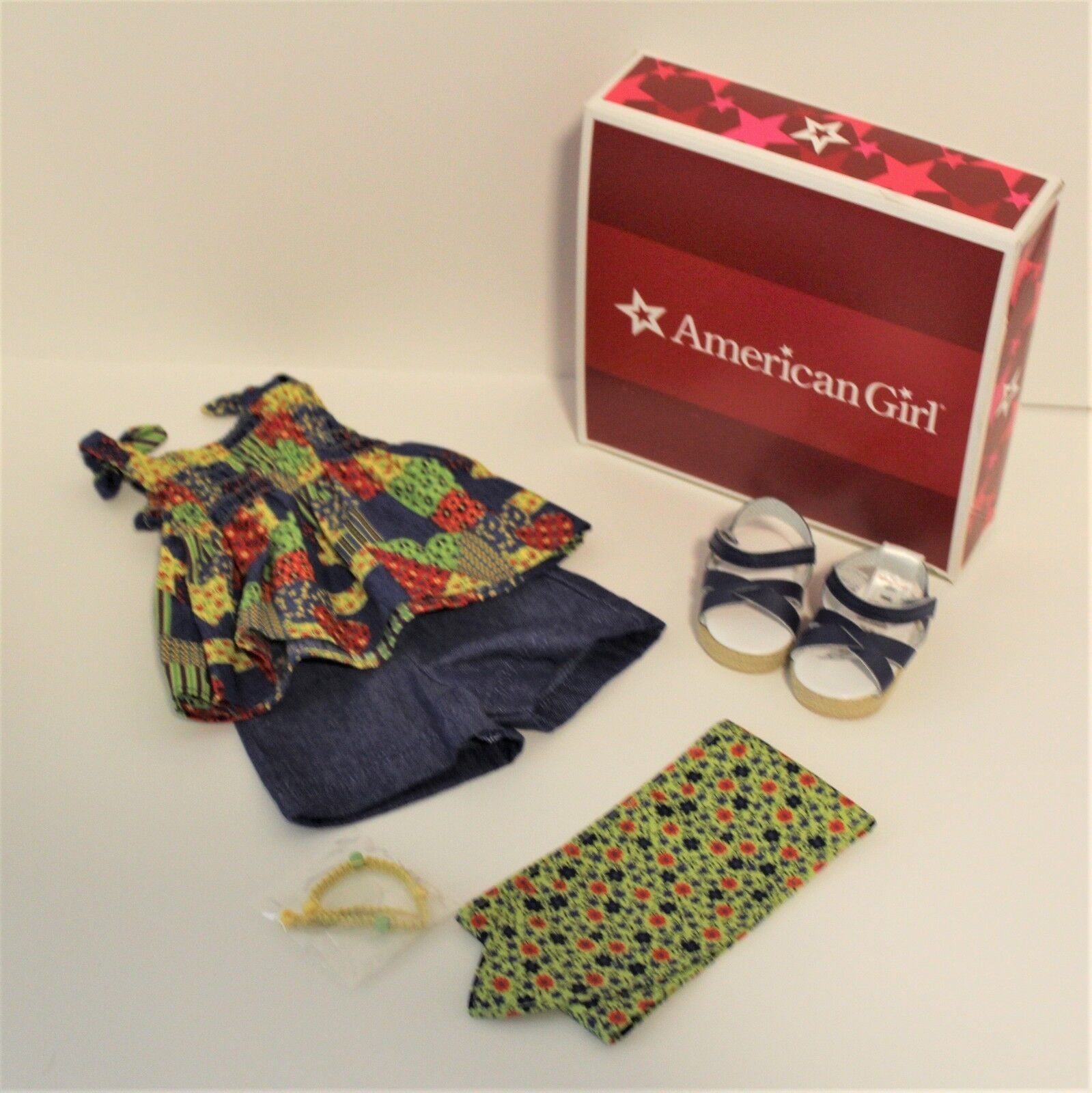 American Girl Julie Patchwork Outfit  NIB NEW with with with Box 7b38c3