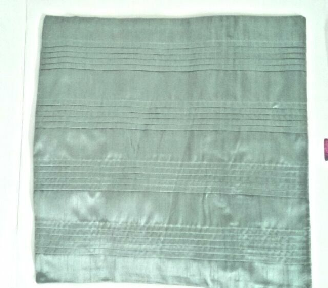 Black Wilko Set Of 2 Square Cushion Covers Silk Effect Pleated Zip Cover