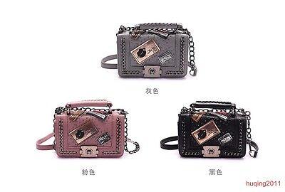 Women PU Leather Handbag Messenger Satchel Tote Crossbody Chain Shoulder Bag