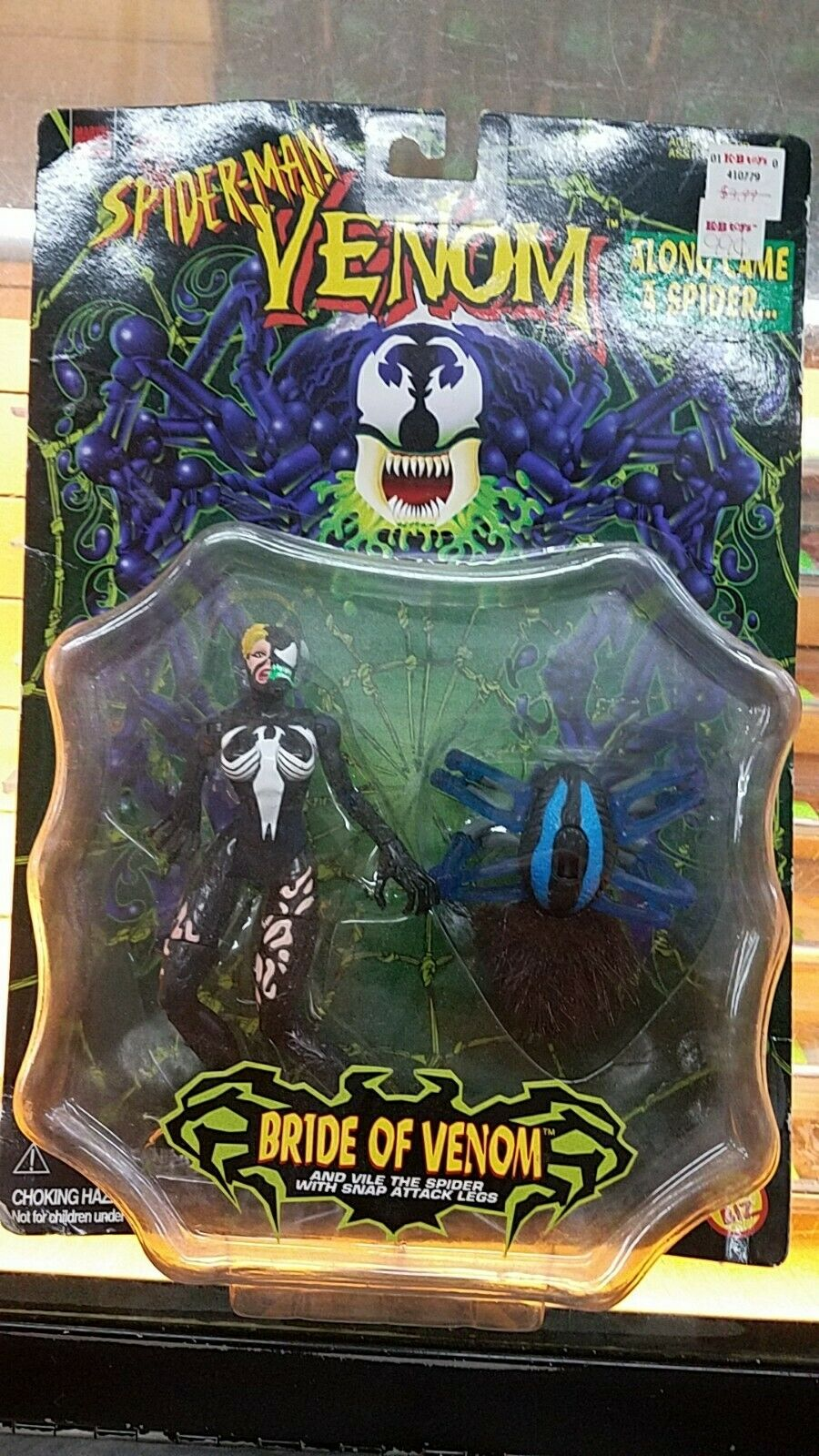 Toy Biz Spider-Man Venom Along Came A Spider Bride of Venom 1997 (MOC)