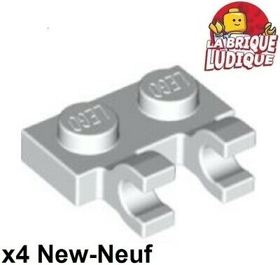 Plate 1x2 Clips Horizontal NEUF NEW noir black 8 x LEGO 60470 Plaque Crochets