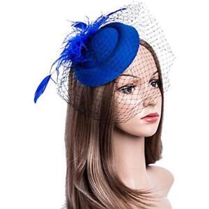 Fascinators Hats 20s 50s Pillbox Cocktail Tea Party Headwear Veil ... e2d9f4f5a6f