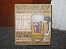Wembley The Ringer 20 oz Beer Mug Glass With Service Bell Original Box NEW