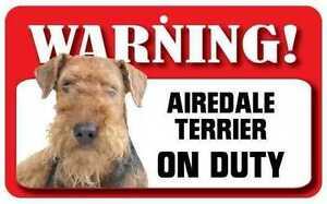 airedale terrier dog pet sign funny signs gifts for dog owners