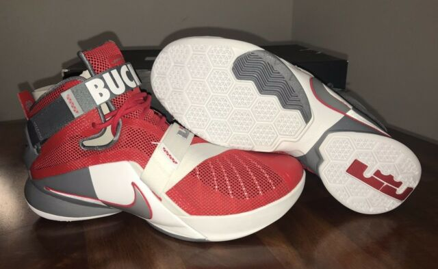 reputable site 1f821 59598 Nike Lebron Soldier IX PRM Ohio State Mens Basketball Shoes 11 Red 749490  601