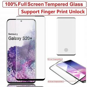 Samsung Galaxy S20 S20 Plus Ultra S10 Tempered Glass Screen Protector Film Curve