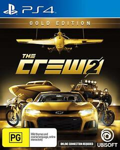 The Crew 2 Gold Edition Race Cars Boats Plane Racing Game Sony