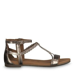 Details zu Tamaris 1 1 28043 22 192 Schuhe Damen Leder Touch it Sandalen Kim champagne gold