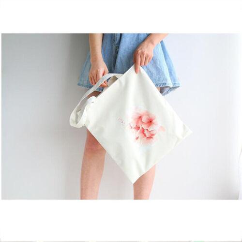 Cherry Blossoms Print Tote Bag For Shopping Women Shoulder Canvas Hand Bags KI