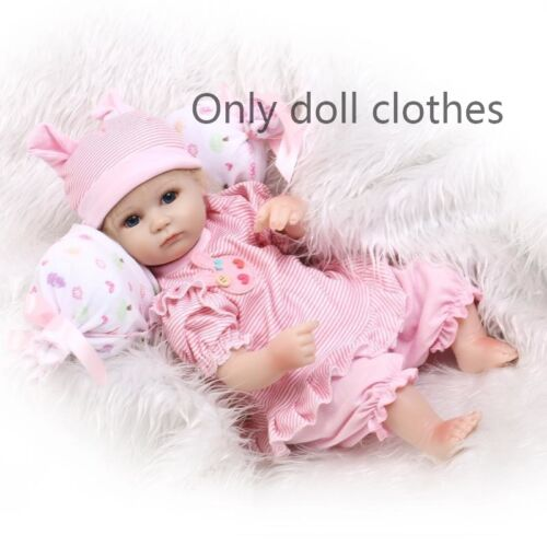"""Sweet Reborn Doll Clothing Suit For 17-18/"""" Newborn Doll Girl Boy Clothes Gift us"""