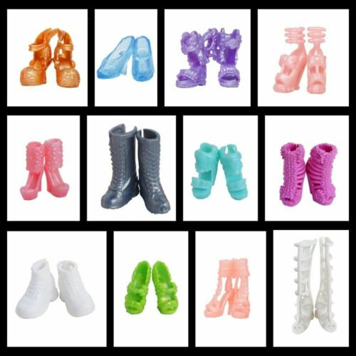 Doll Shoes High Heels Sandals Boots Mix Style For Barbie Doll Colorful 12 Pairs