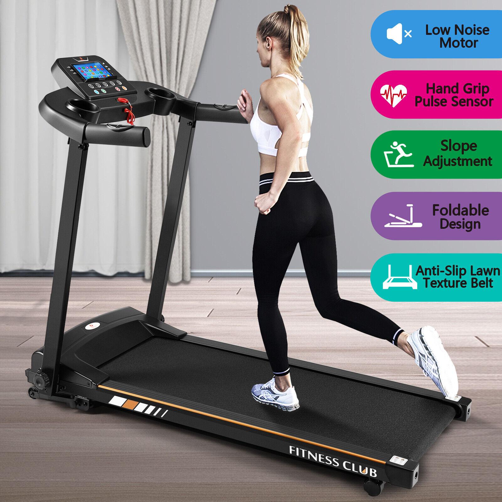 1500W Folding Treadmill Electric Motorized Running Machine Wide Multi-Layer Belt