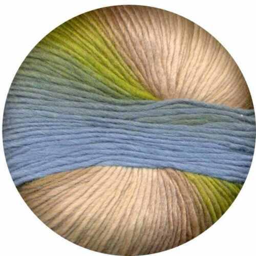 :Amitola Grande #523: wool silk self-striping yarn Morgan Louisa Harding