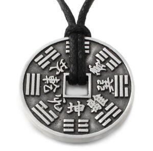 N47-Halskette-Anhaenger-FENG-SHUI-GLUCKSMUNZE-Damen-Herren-Necklace-Pendant-Coin