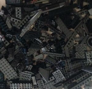 100-BLACK-LEGO-PIECES-FROM-HUGE-BULK-LOT-BRICKS-PARTS-RANDOM-NO-MINIFIGURES