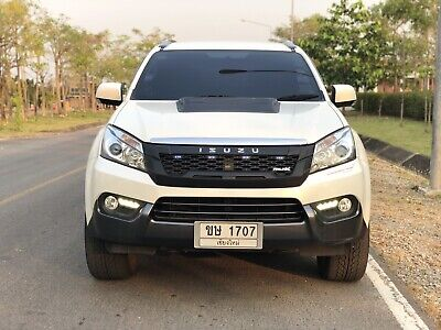 CHROME FRONT GRILLE GRILL+CHROME LOGO FIT FOR ISUZU MU-X MUX 2015 16 17