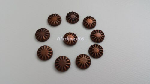 6mm in *Kupfer* Domestuds aus Metall mit Muster 500 Hotfix Nailheads Nieten