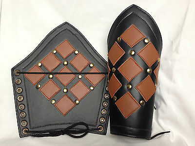 Bracers Ancient Armour Armor Leather Arm Guard Medieval Roman Vambraces Pair