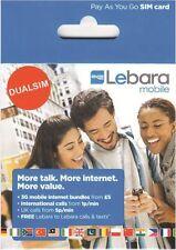 GB Lebara Tarjeta SIM con credito (Oficial Combo SIM - ambos estándard o micro)