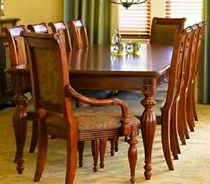 domain new manchester cherry formal traditional hardwood dining room table