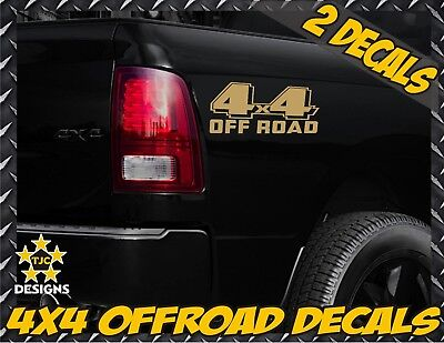 X2 4x4 Off road Vinyl Truck Stickers Compatible With Gmc Sierra CANYON side bed decals